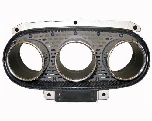 Novitec F1 458 22 Exhaust Tips w/Mesh Inserts Ferrari 458 Spider 11-15