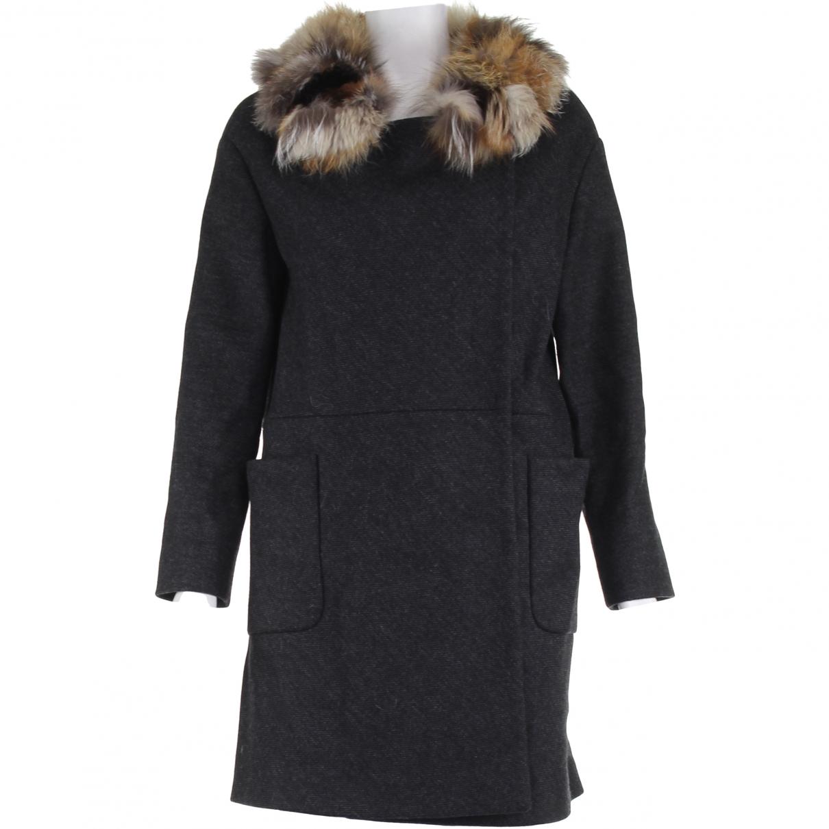 Miu Miu \N Grey Wool coat for Women 40 IT