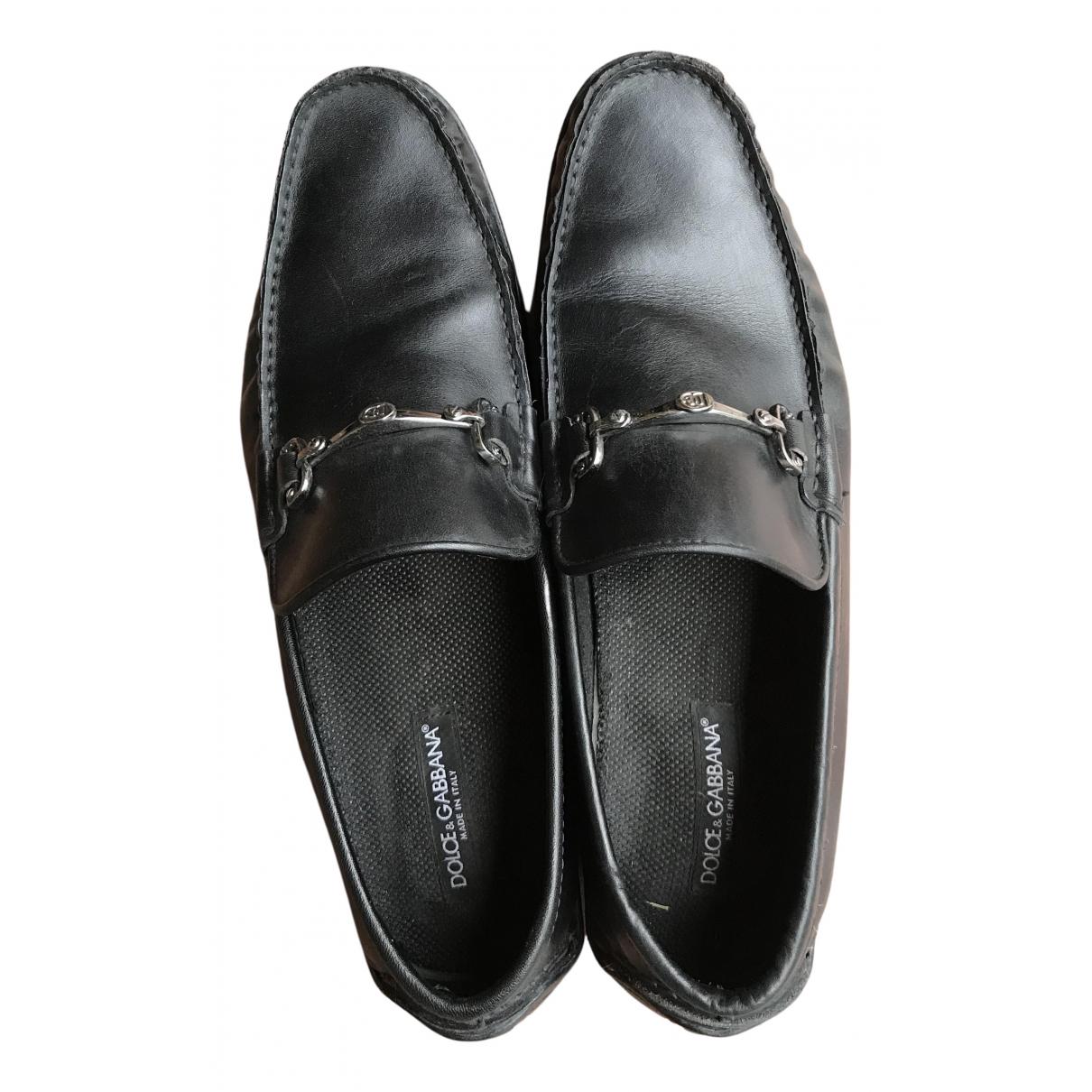 Dolce & Gabbana - Mocassins   pour homme en cuir - noir