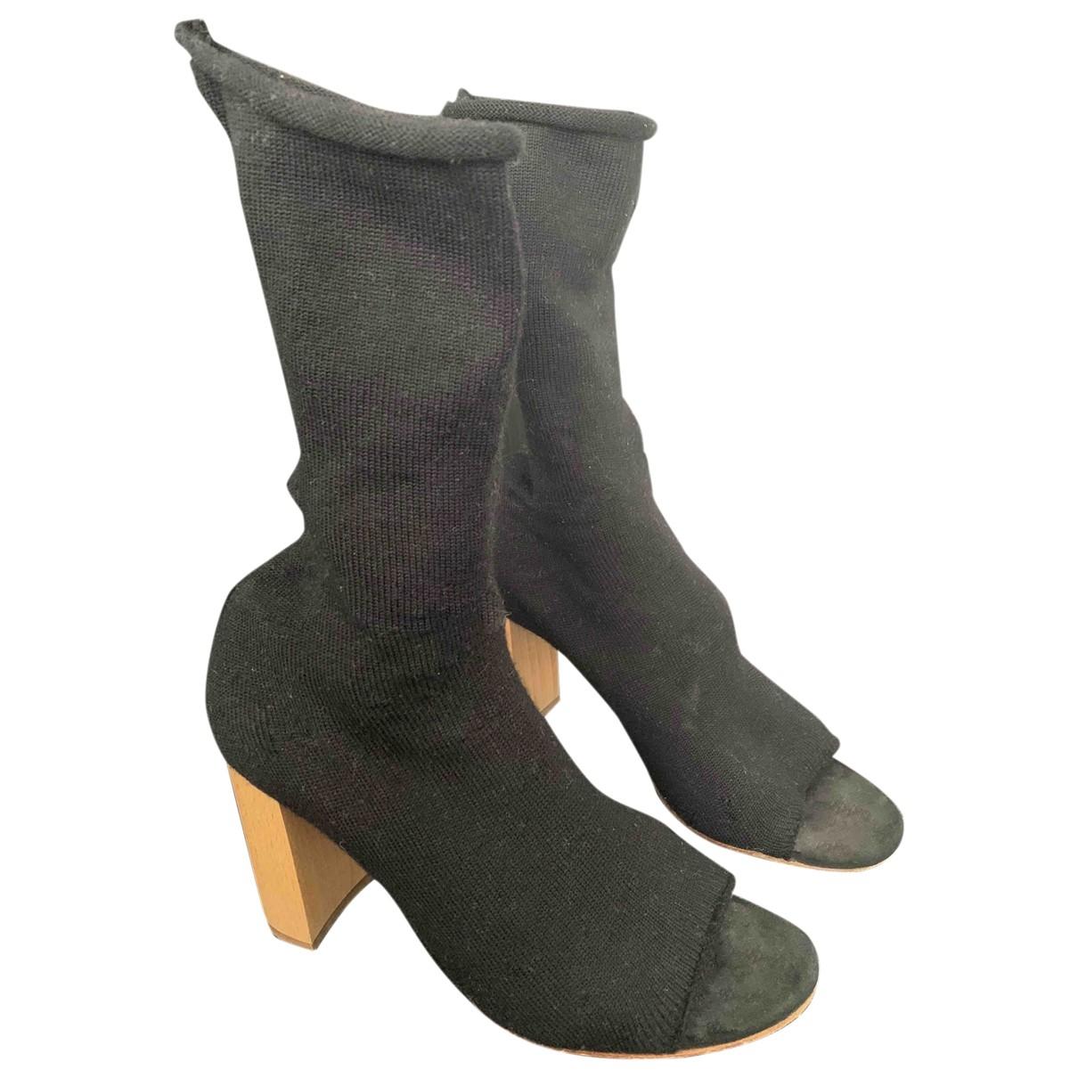 Ports 1961 - Boots   pour femme en toile - noir