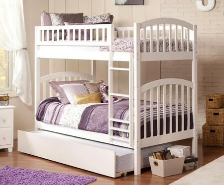 Richland AB64152 Twin Over Twin Bunk Bed With Urban Trundle Bed In
