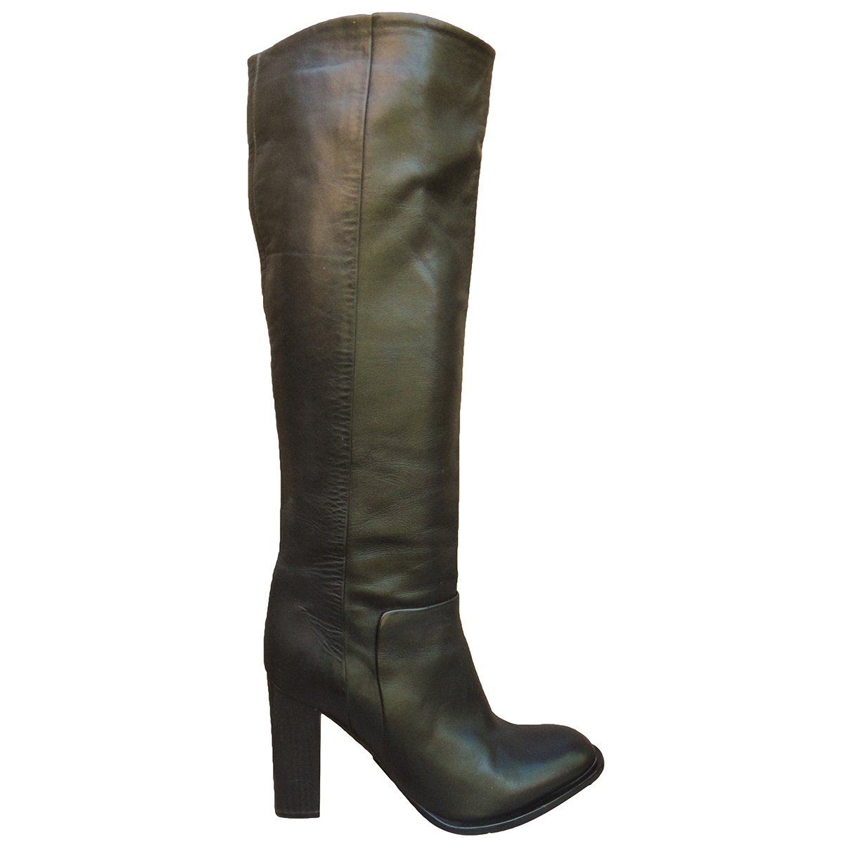 Veronique Branquinho - Bottes   pour femme en cuir - noir