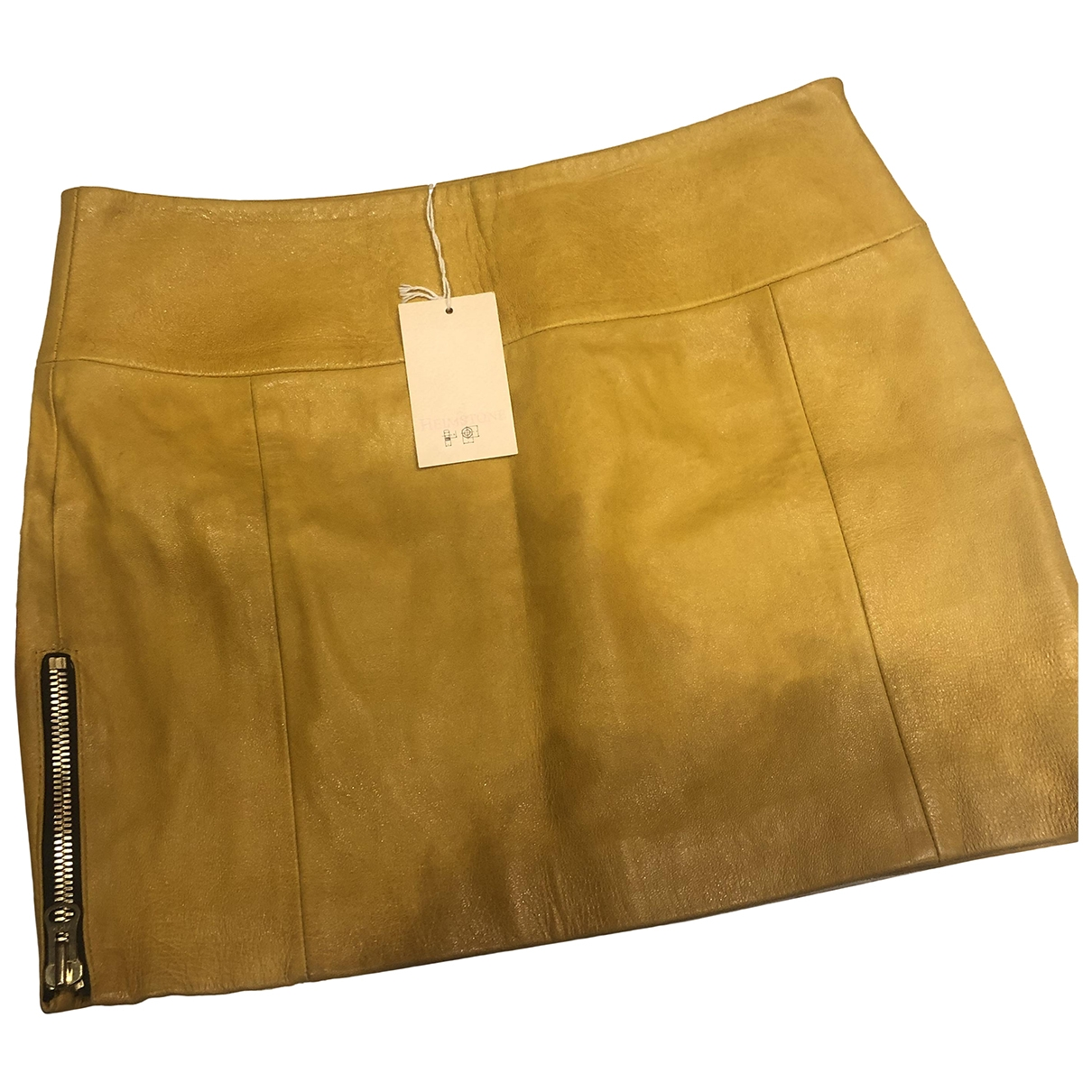 Heimstone \N Yellow Leather skirt for Women 36 FR
