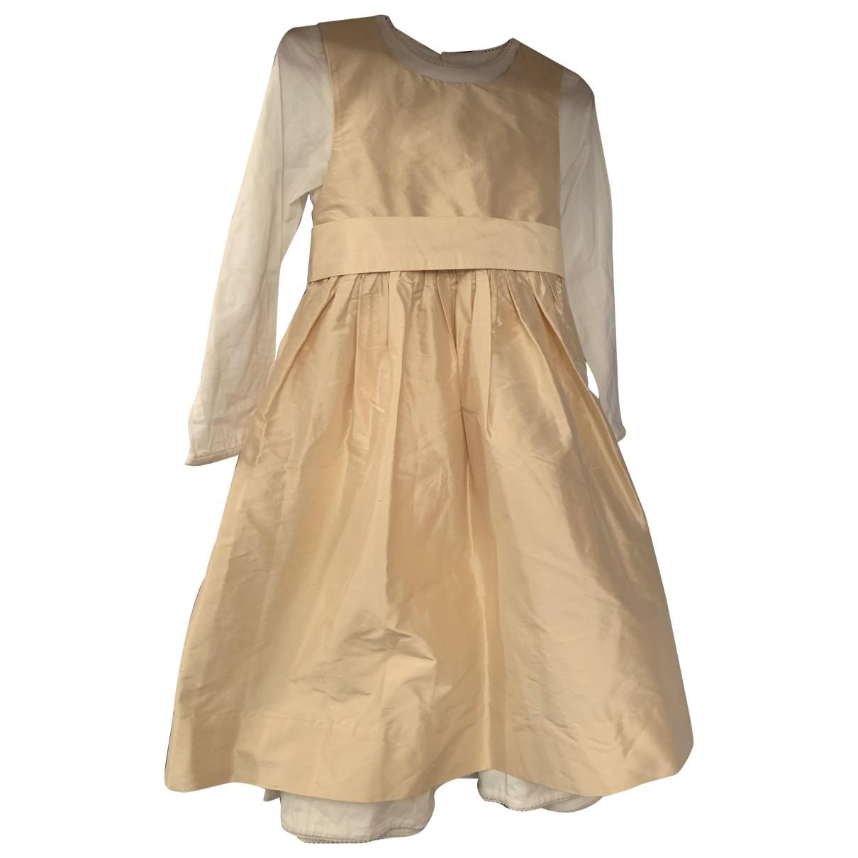 Jacadi - Robe    pour enfant en soie - ecru