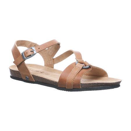 Bearpaw Womens Sandy Flat Sandals, 7 Medium, Brown