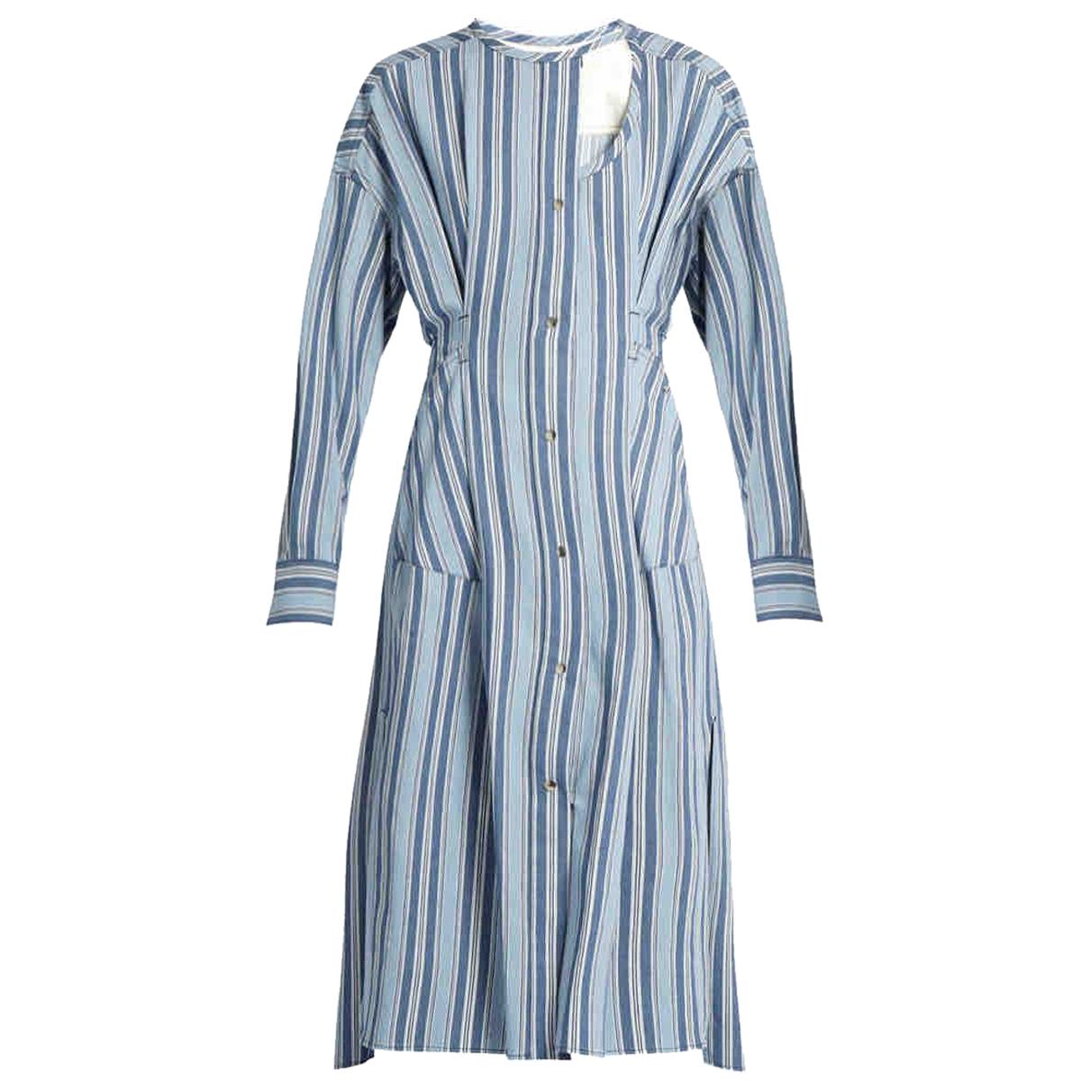 Isabel Marant N Blue Cotton dress for Women 42 FR