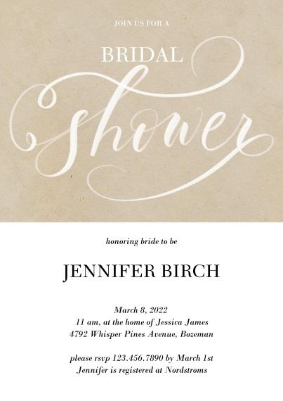 Wedding Shower Invites Flat Glossy Photo Paper Cards with Envelopes, 5x7, Card & Stationery -Flourishing