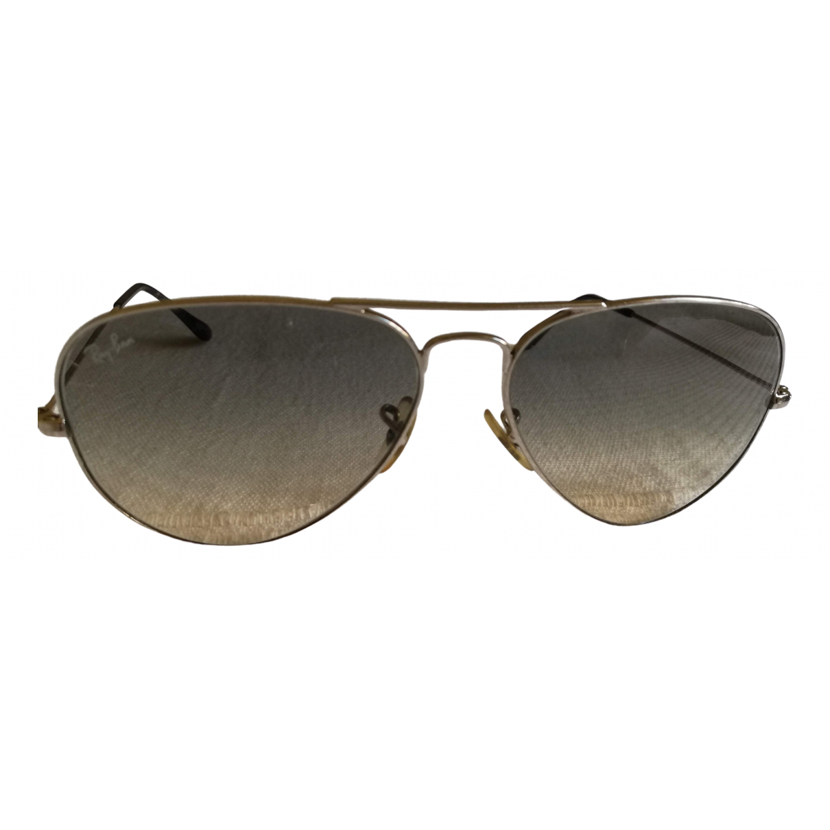Ray-ban Aviator Silver Metal Sunglasses for Women \N