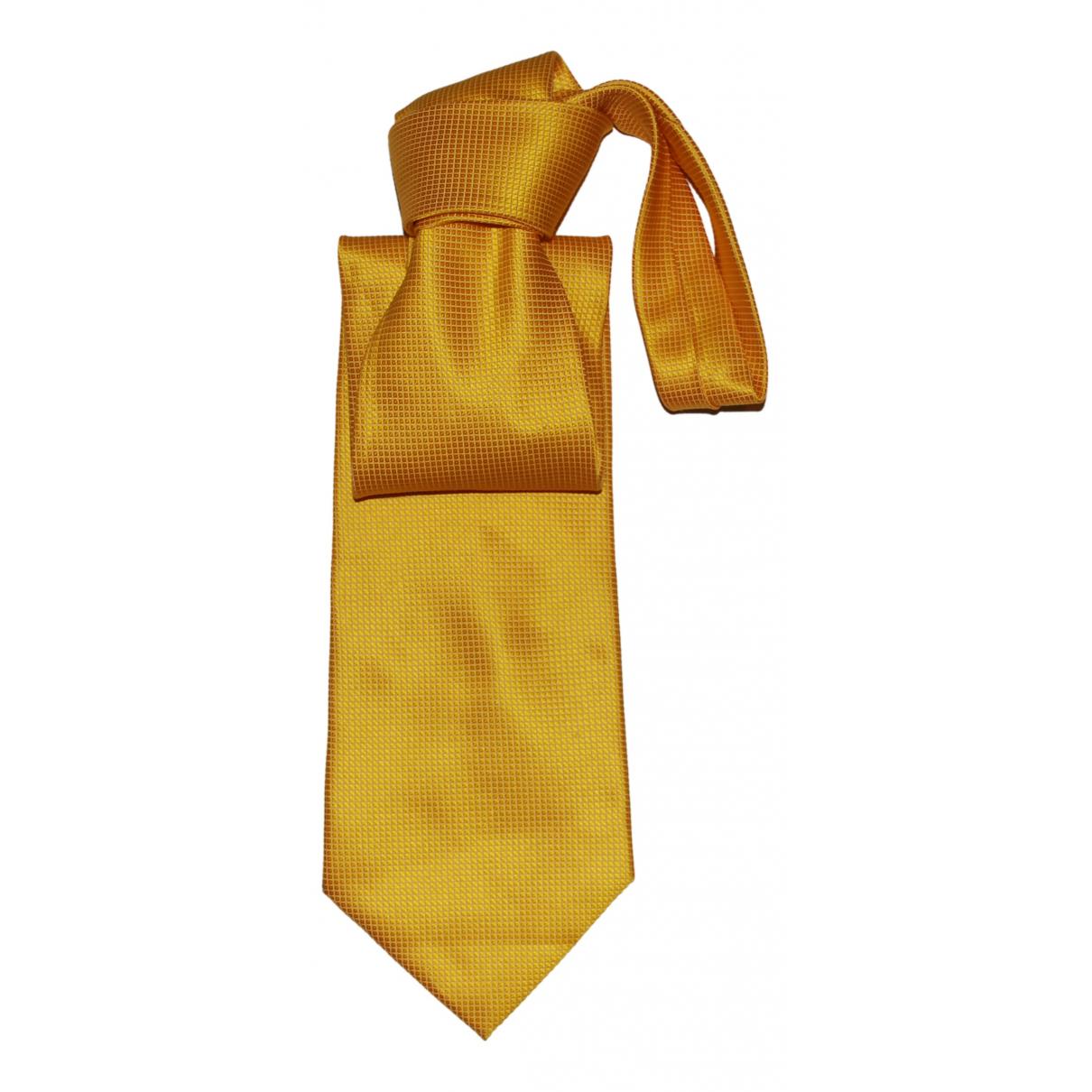 Ermenegildo Zegna - Cravates   pour homme en soie - jaune