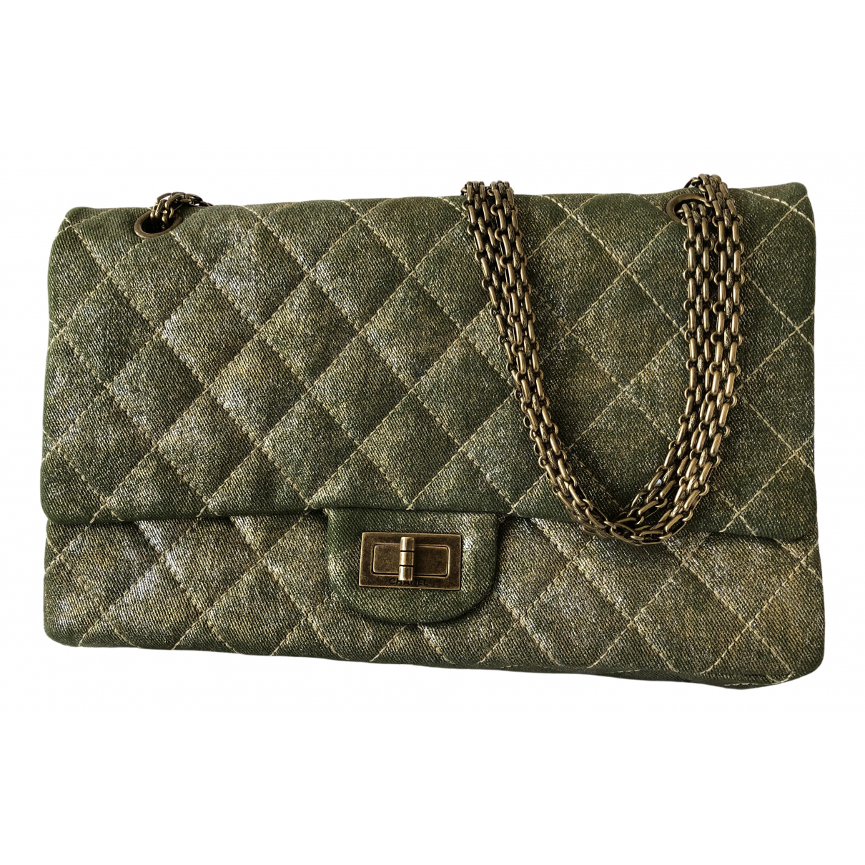 Chanel 2.55 Green Cloth handbag for Women \N
