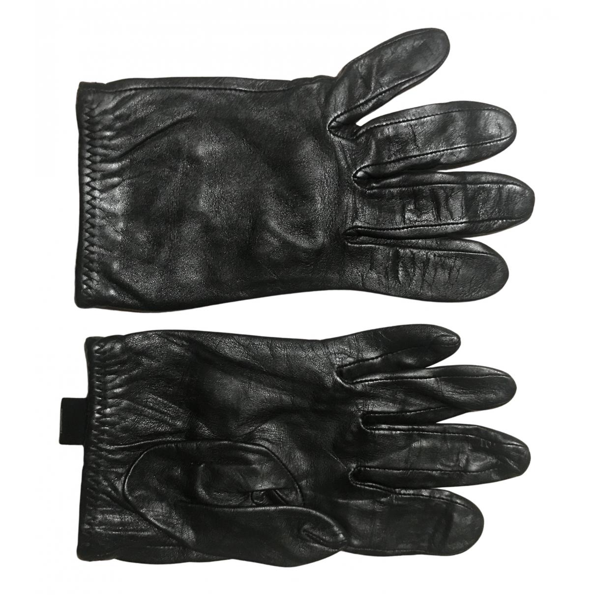 Furla - Gants   pour femme en cuir - noir