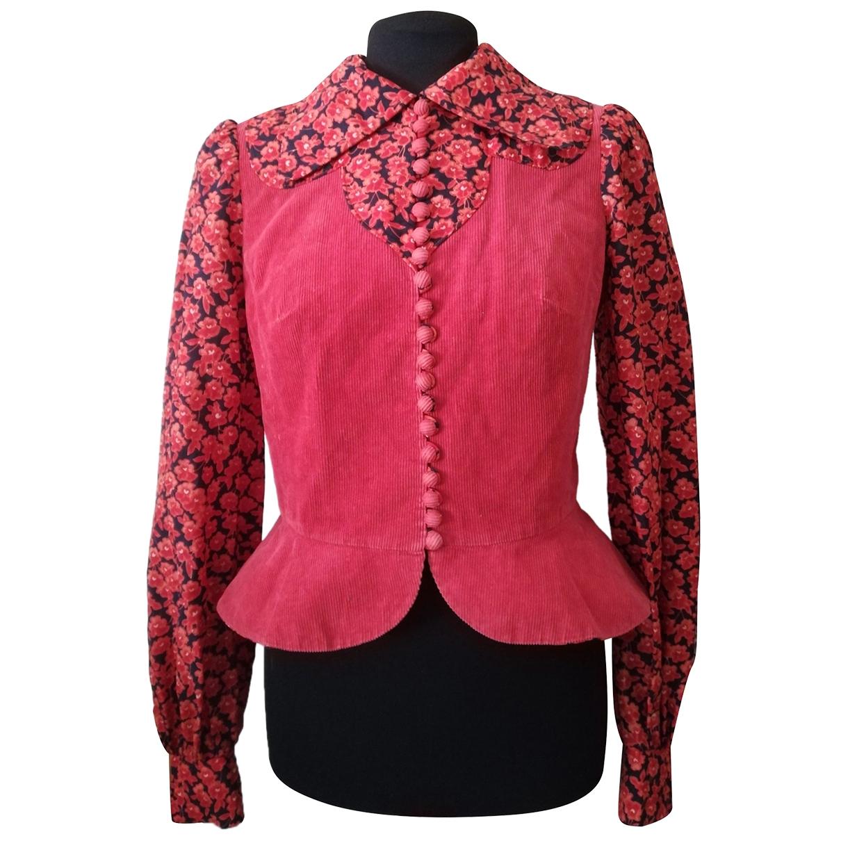 Non Signé / Unsigned \N Orange Cotton  top for Women 40 IT