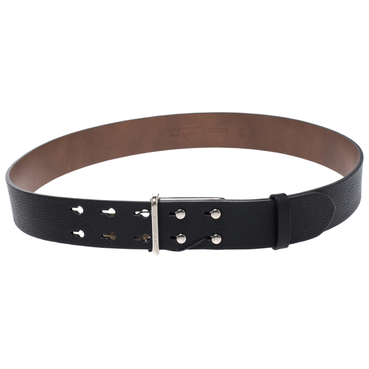 Burberry \N Black Leather belt for Women 85 cm