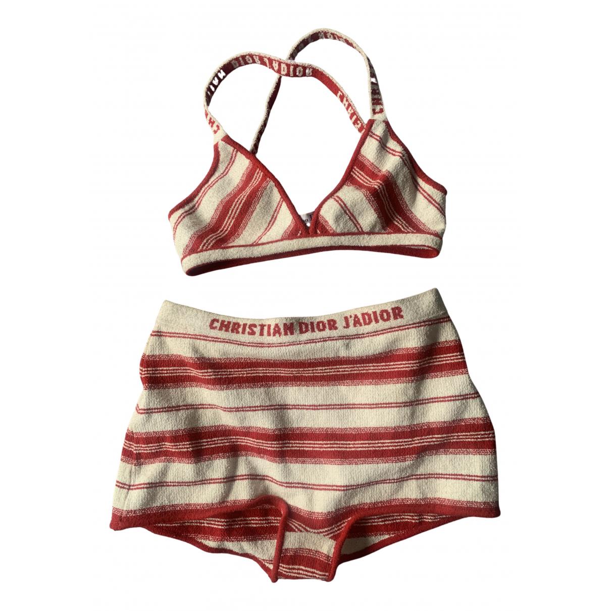 Dior \N Badeanzug in  Rot Baumwolle
