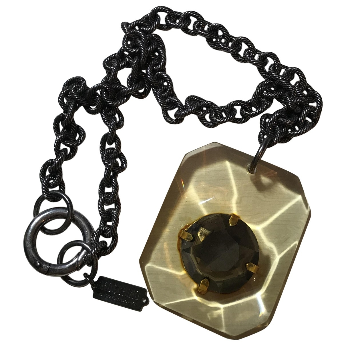 Moschino - Collier   pour femme - anthracite