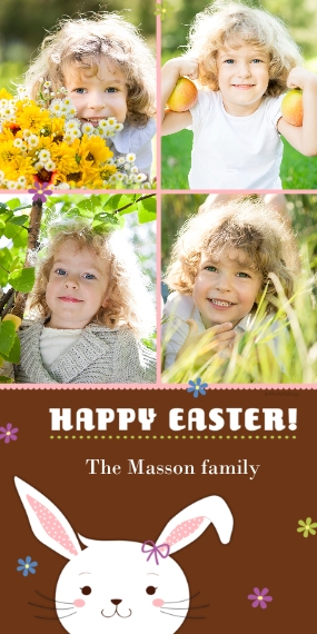 Easter Cards 4x8 Flat Card Set, 85lb, Card & Stationery -Easter Bunny