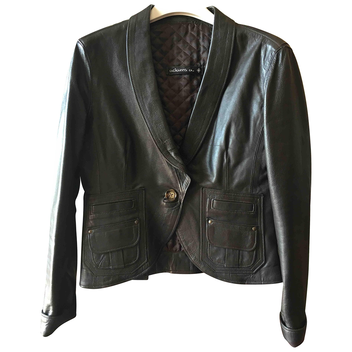 Non Signé / Unsigned \N Brown Leather jacket for Women 40 IT