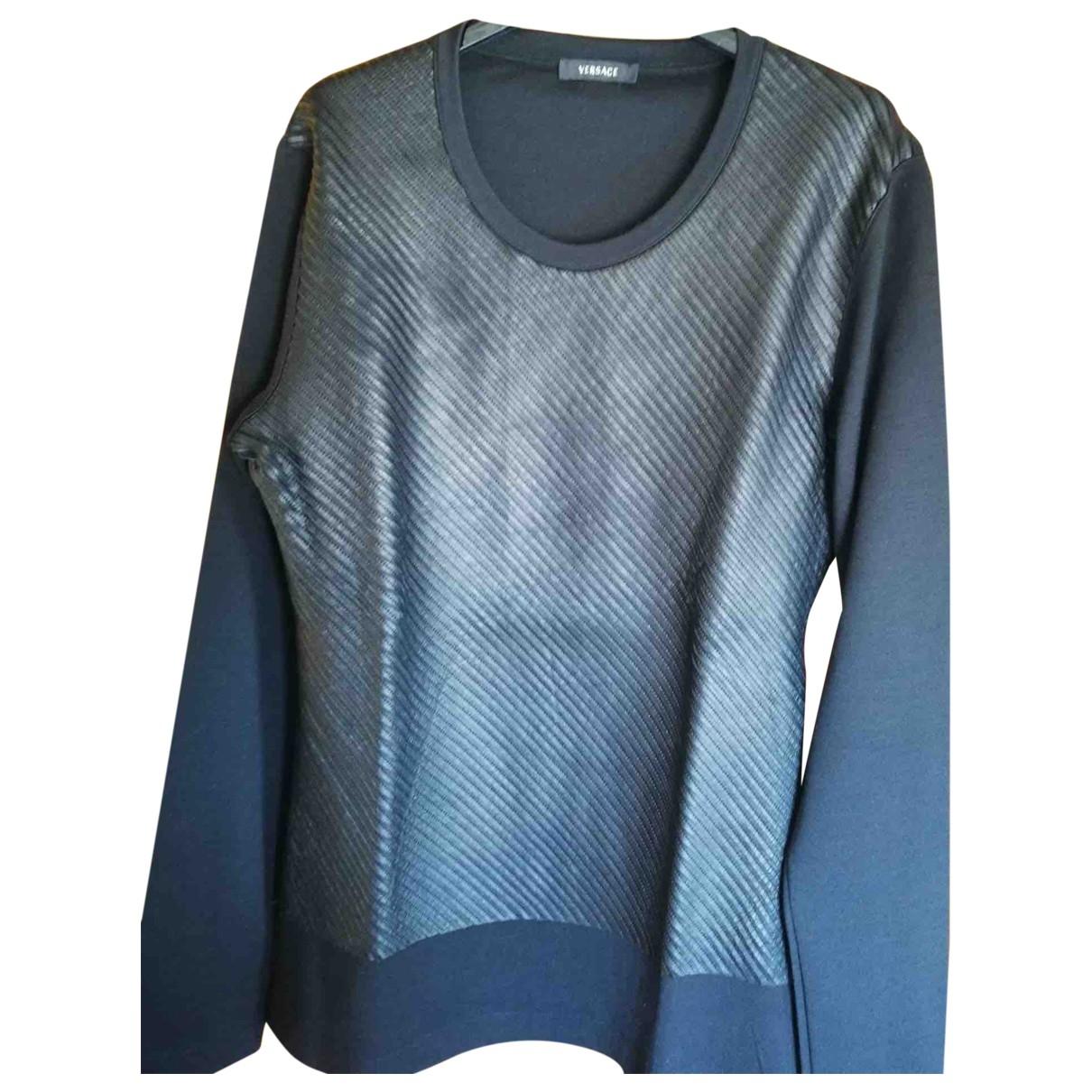 Versace \N Pullover.Westen.Sweatshirts  in  Schwarz Wolle