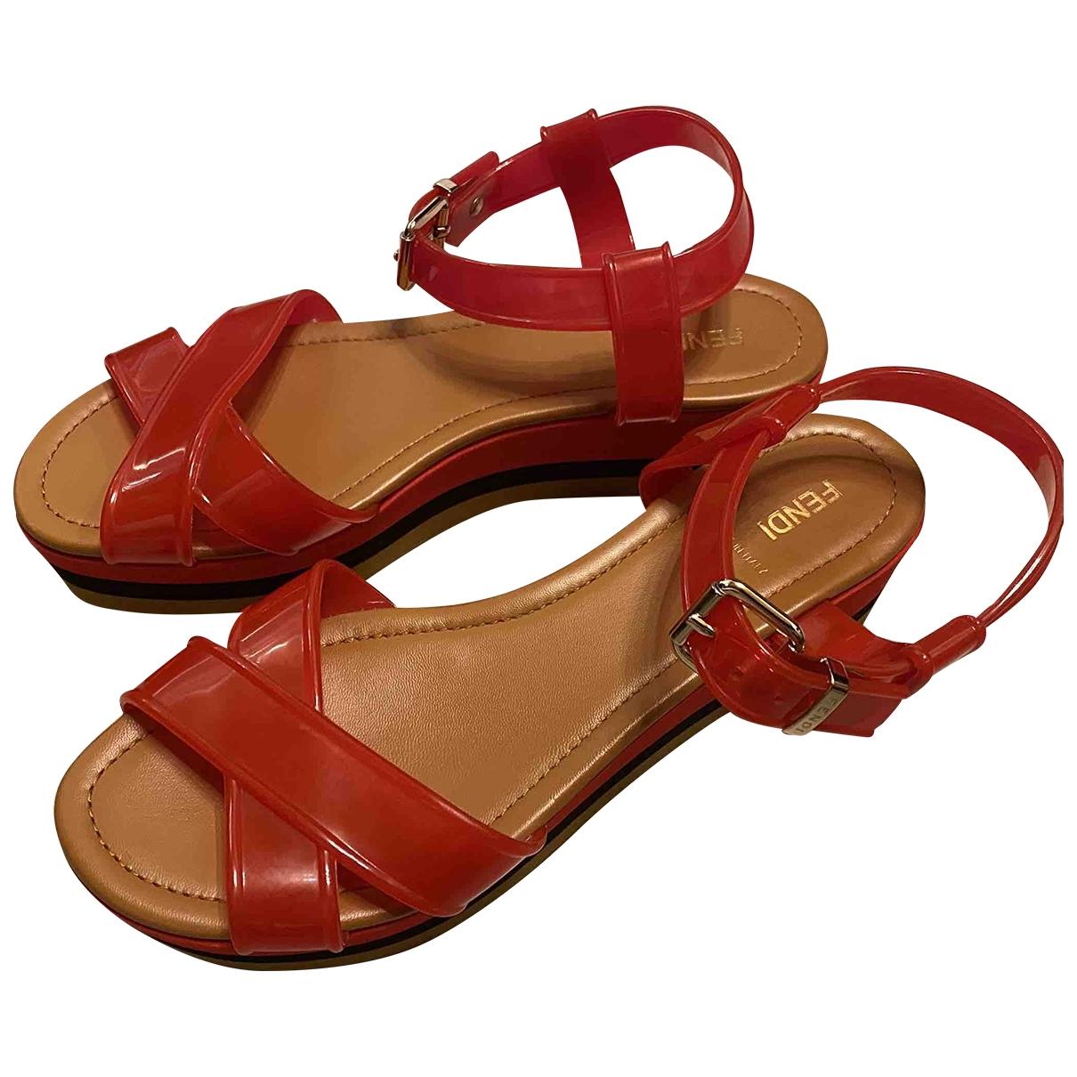 Fendi \N Red Sandals for Women 40 EU
