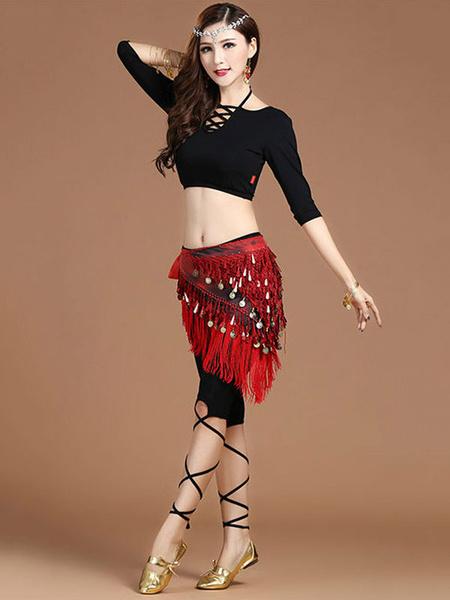 Milanoo Disfraz Halloween Pantalones de danza del vientre Lentejuelas Fringe Dancing Wear para mujeres Carnaval Halloween