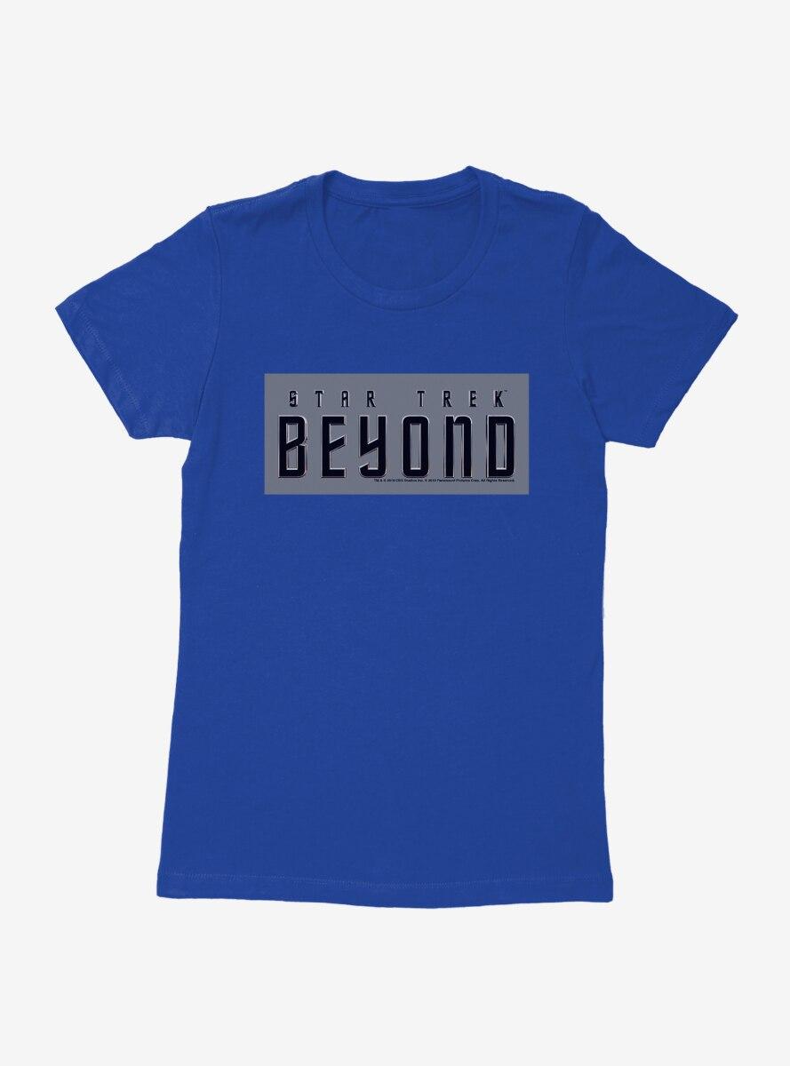 Star Trek Beyond Gray Square Logo Womens T-shirt