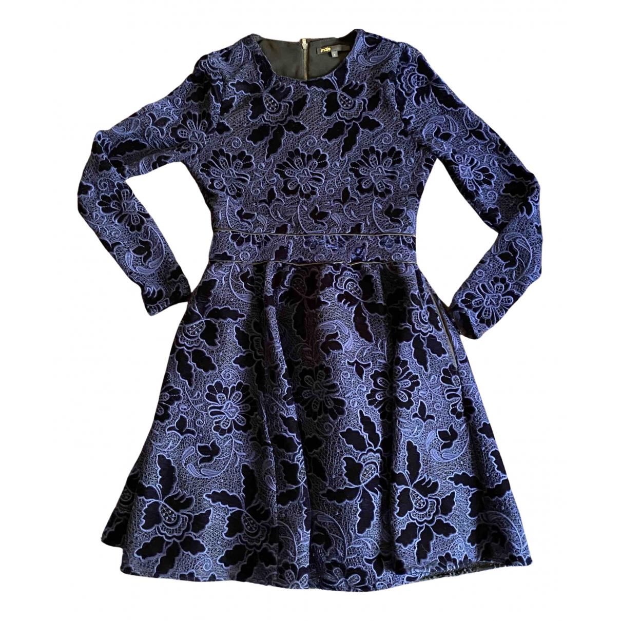 Maje \N Kleid in  Blau Synthetik