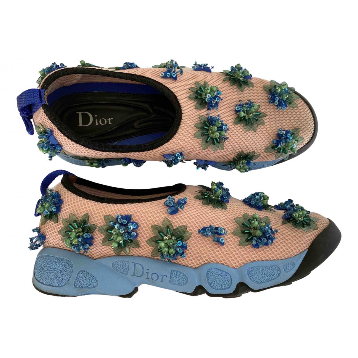 Dior Dior Fusion Sneakers in  Beige Leinen