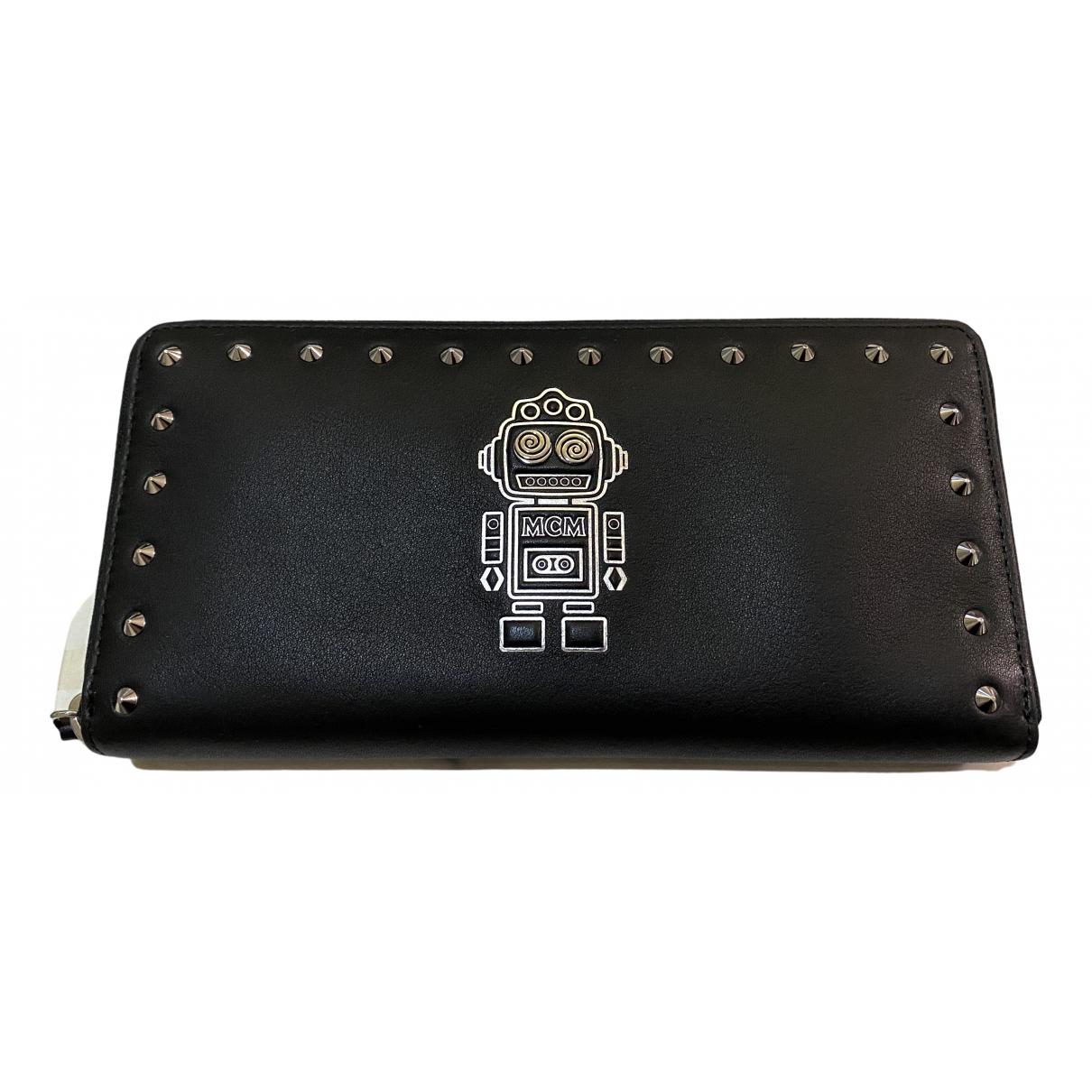 Mcm \N Portemonnaie in  Schwarz Leder