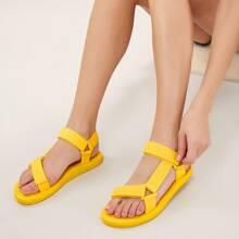 Twin Velcro Band Open Toe Foam Sandals