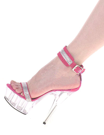 Milanoo Sandalias de tela con lentejuelas rosadas de estilo sexy
