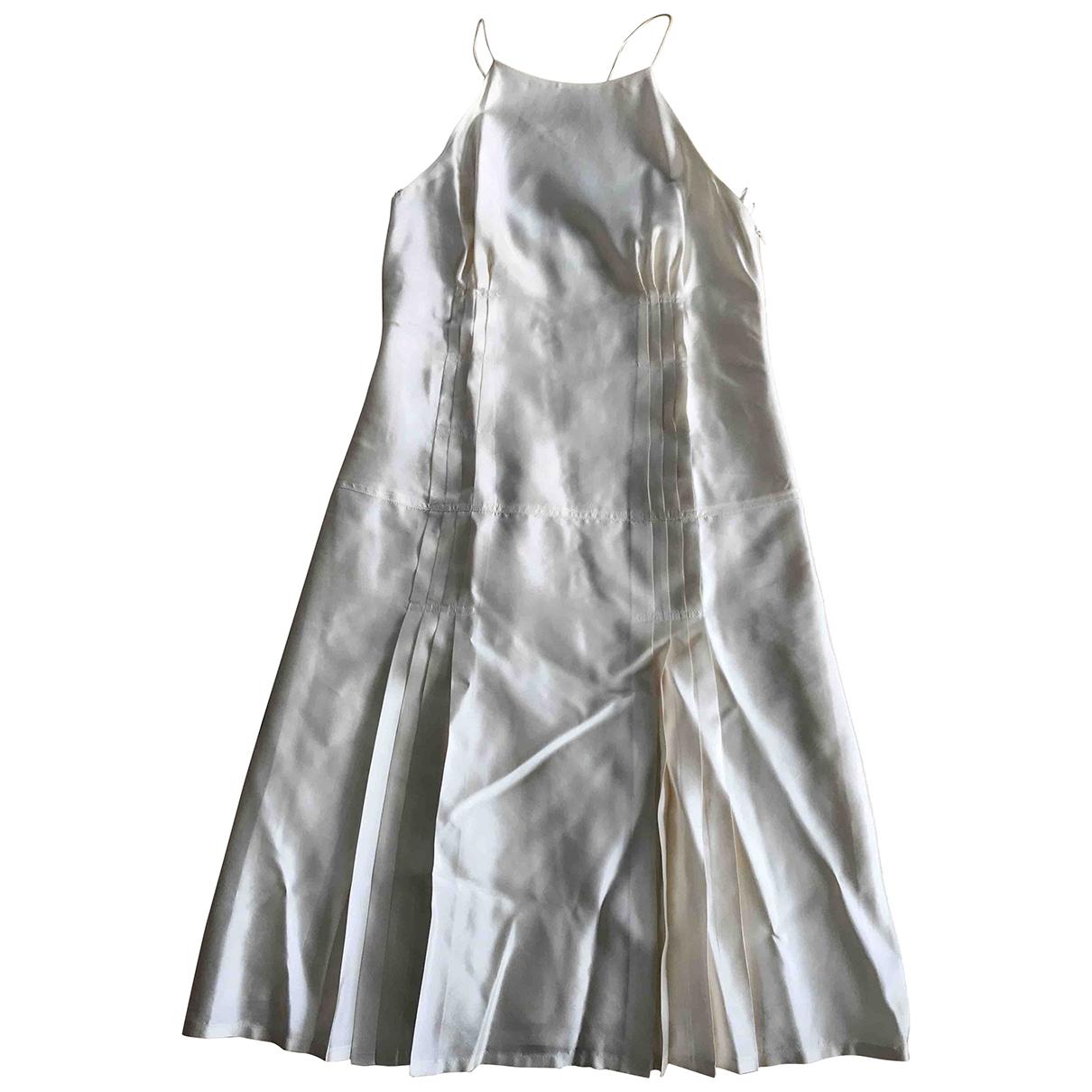 Boss \N Beige Silk dress for Women 42 FR
