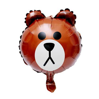 Foil Balloon Brown Bear Mylar Helium Balloon Party Decor, 17