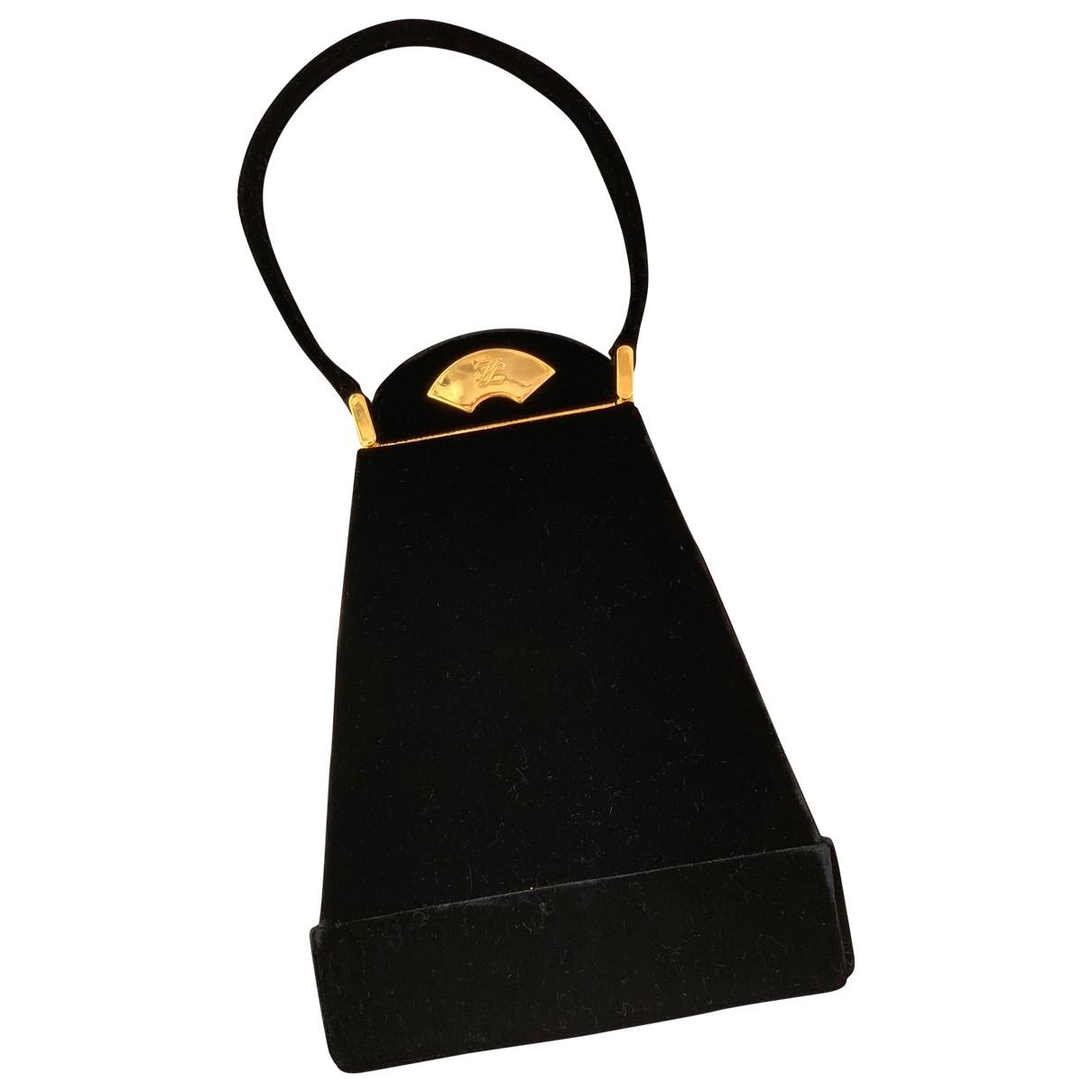 Karl Lagerfeld - Pochette   pour femme en velours - noir