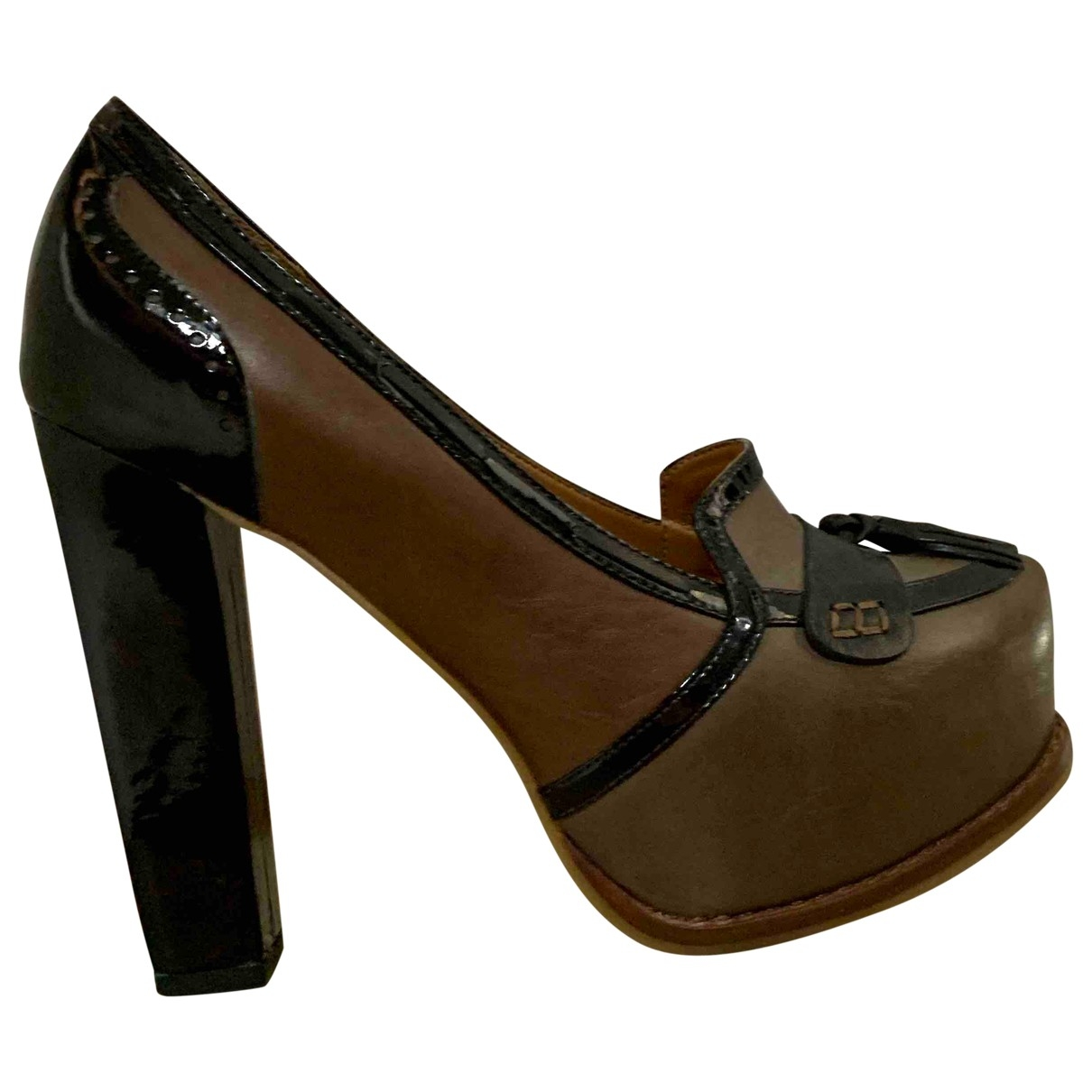 Non Signé / Unsigned \N Leather Heels for Women 37 EU