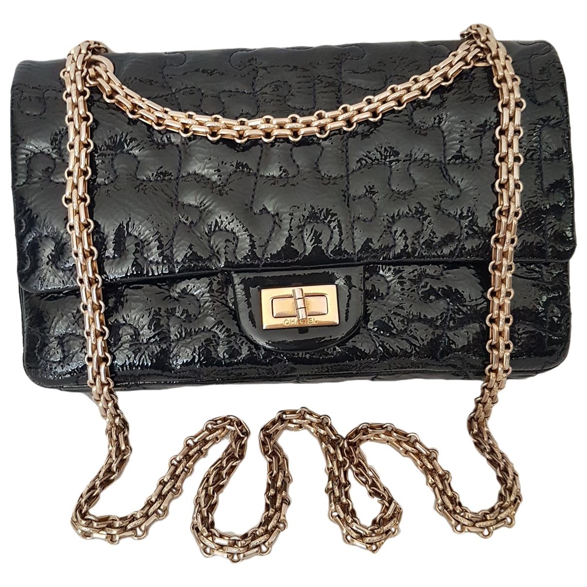 Chanel 2.55 Navy Patent leather handbag for Women \N