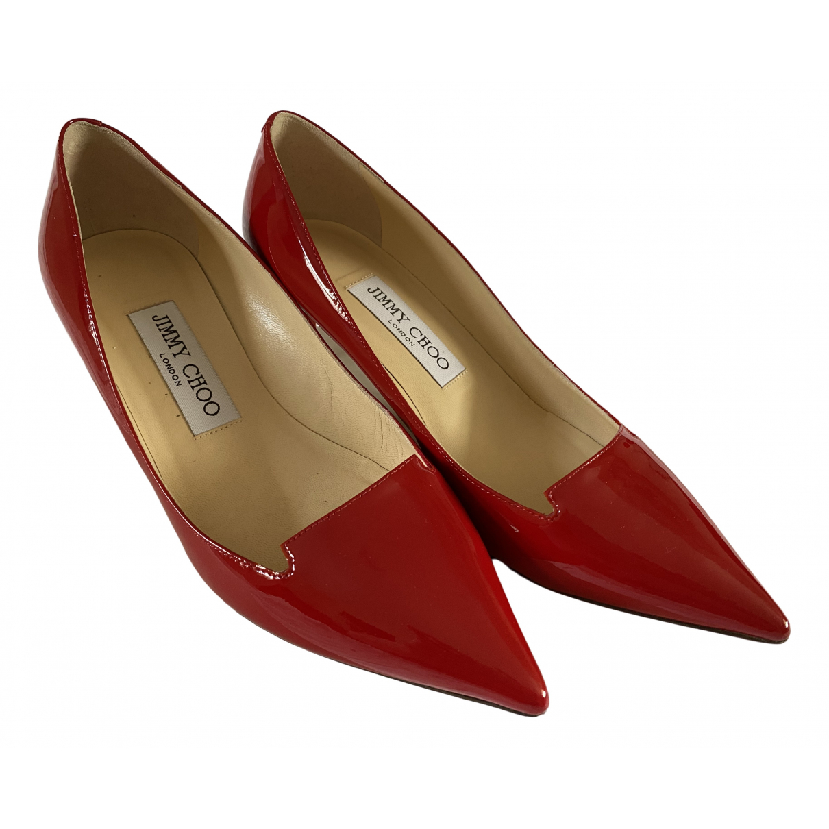 Jimmy Choo \N Pumps in  Rot Lackleder