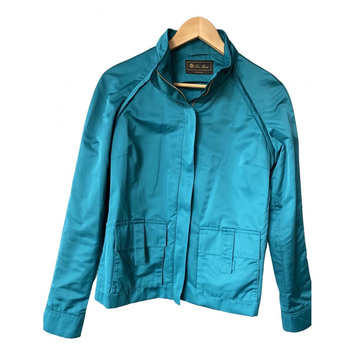 Loro Piana \N Turquoise Silk jacket for Women 44 IT