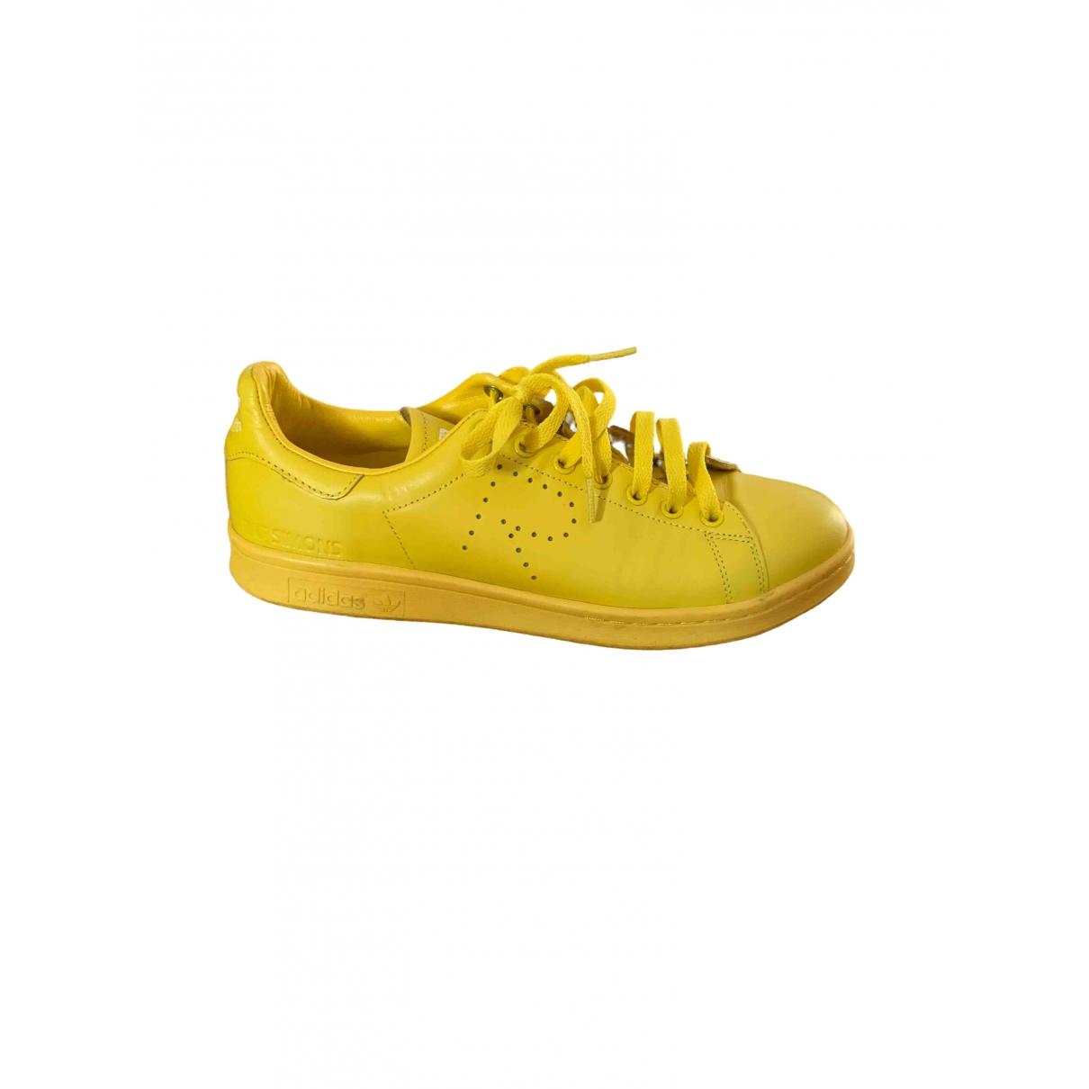 Adidas X Raf Simons Stan Smith Sneakers in  Gelb Leder