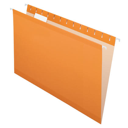 Pendaflex@ Reversaflex@ Premium Reinforced Hanging Folder, Legal Size, 25/Box - Orange