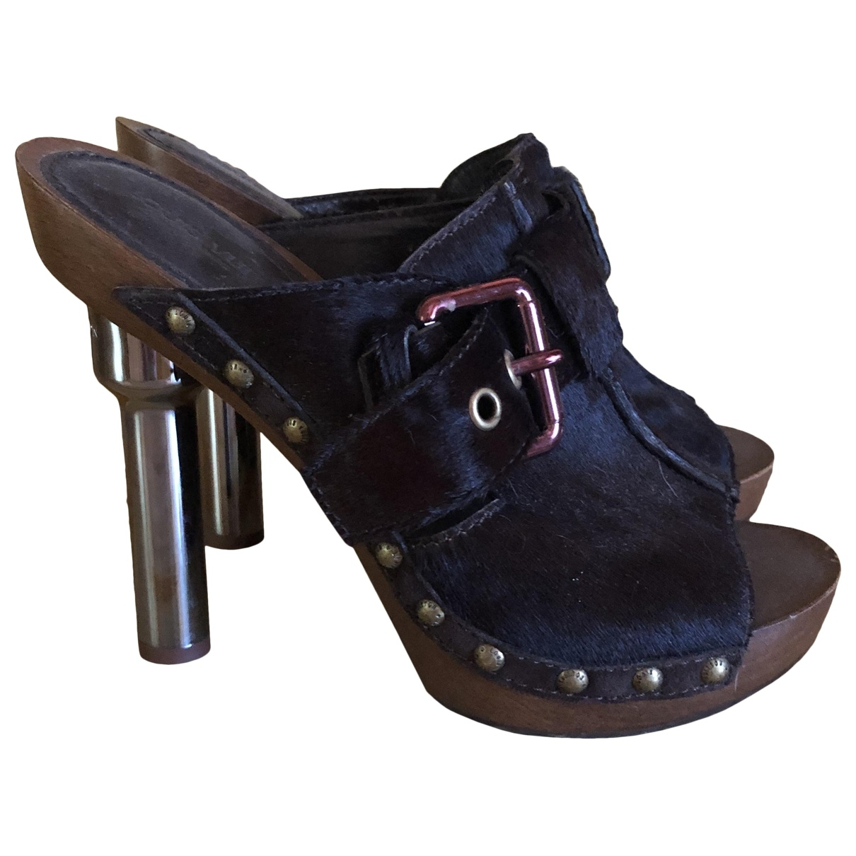 Louis Vuitton \N Brown Pony-style calfskin Heels for Women 37 EU