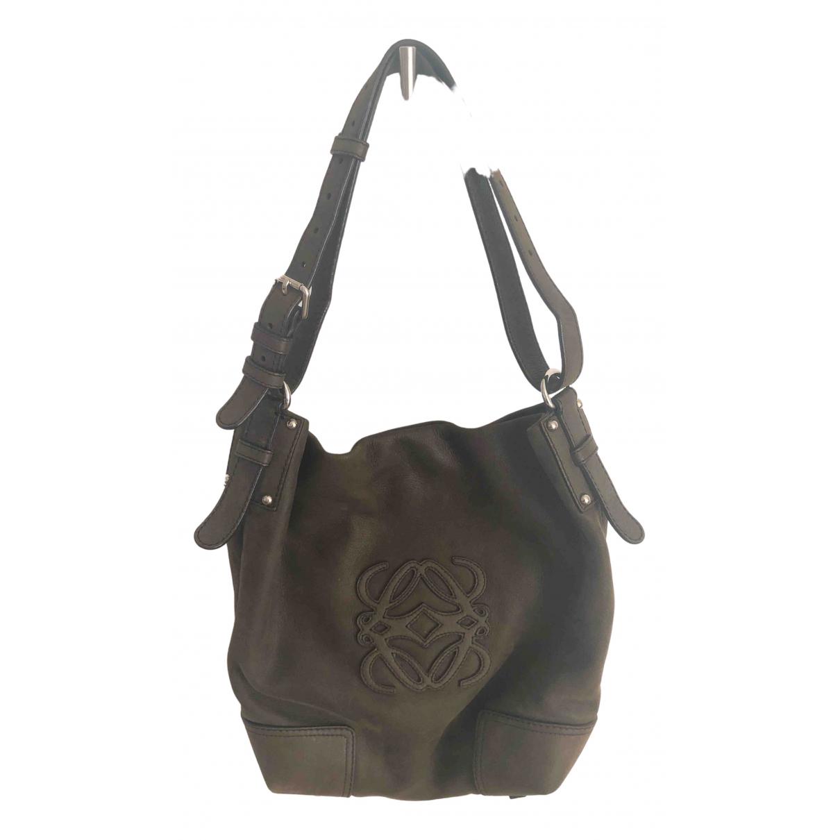 Loewe \N Brown Leather handbag for Women \N