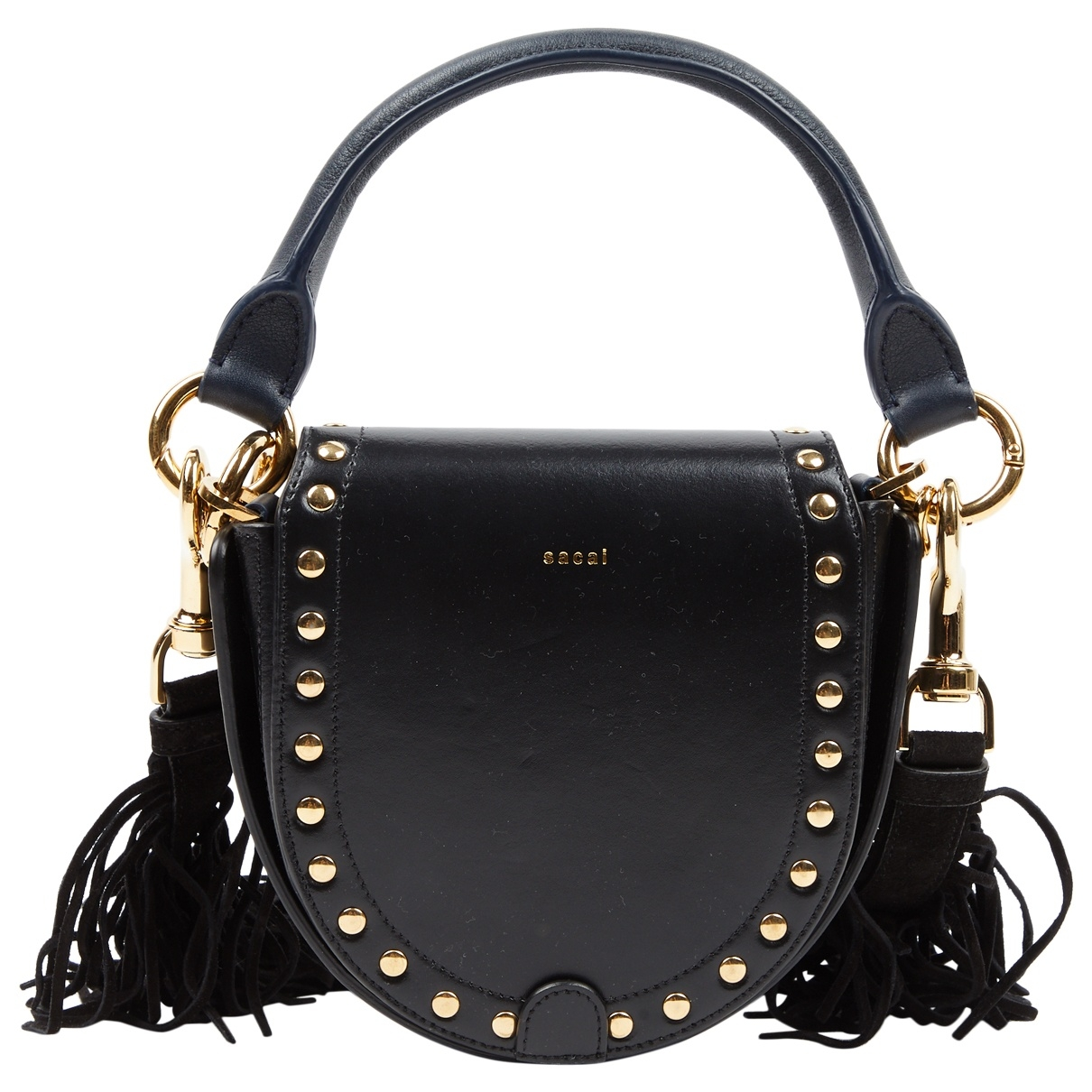 Sacai \N Black Leather handbag for Women \N