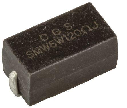 TE Connectivity 120Ω Wire Wound SMD Resistor ±5% 5W - SMW5120RJT (5)
