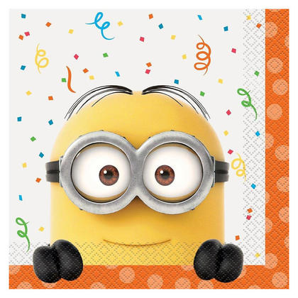 Party Napkins Despicable Me Minions 16Pcs For Birthday Party