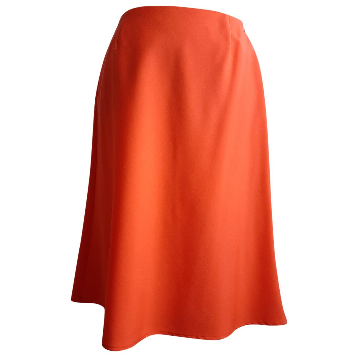 Valentino Garavani - Jupe   pour femme en laine - orange