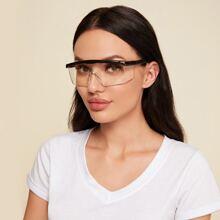 Flat Top Shield Goggle Glasses
