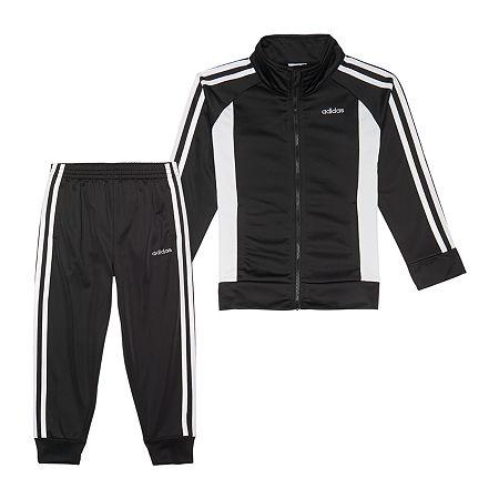 adidas Girls 2-pc. Logo Track Suit - Preschool, 6x , Black