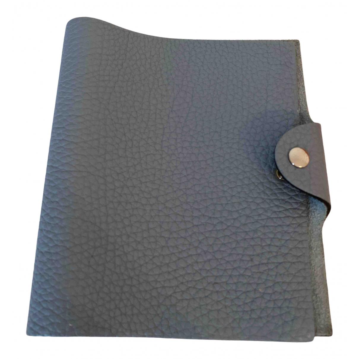 Hermes - Objets & Deco Ulysse PM pour lifestyle en cuir - bleu