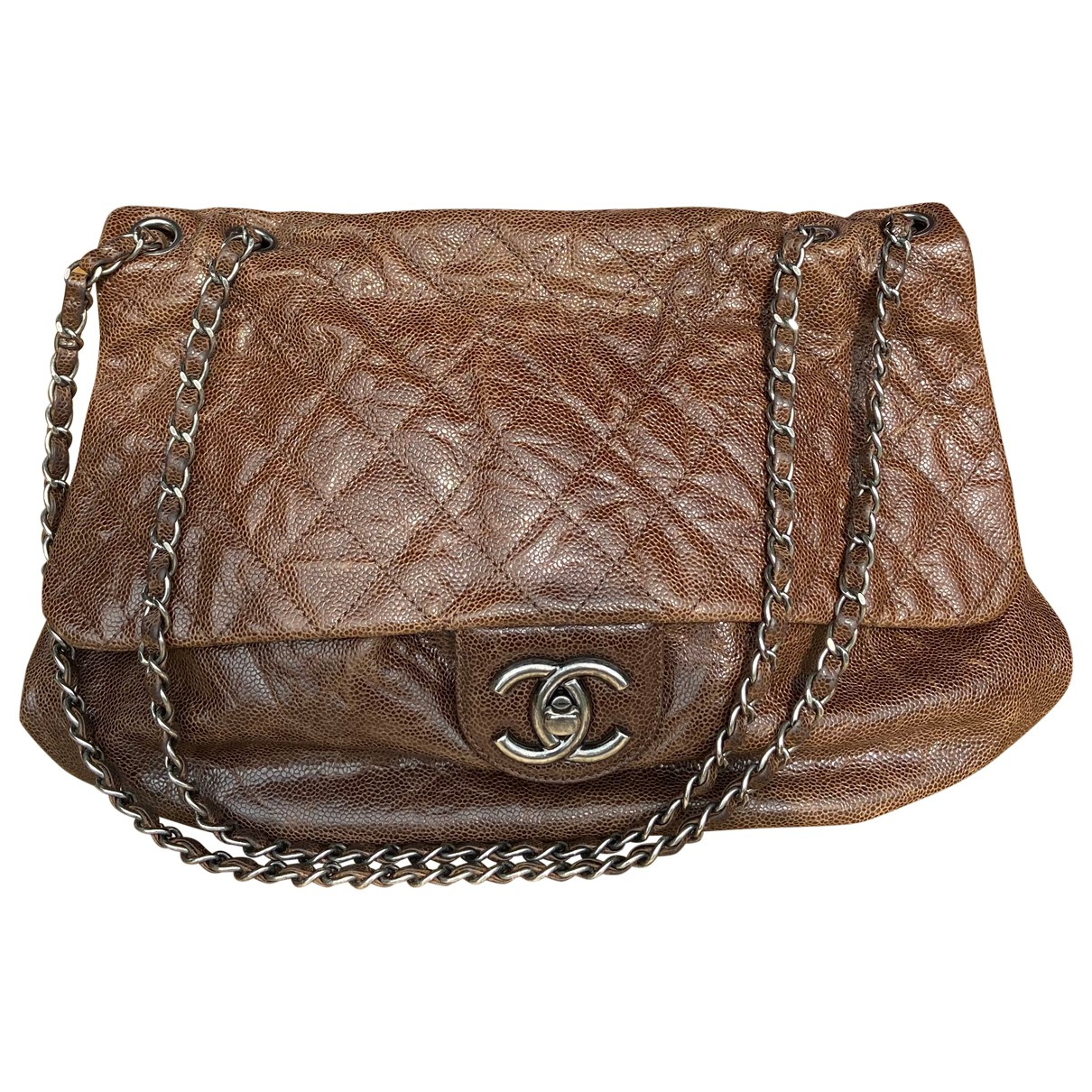 Chanel Timeless/Classique Clutch in  Braun Leder