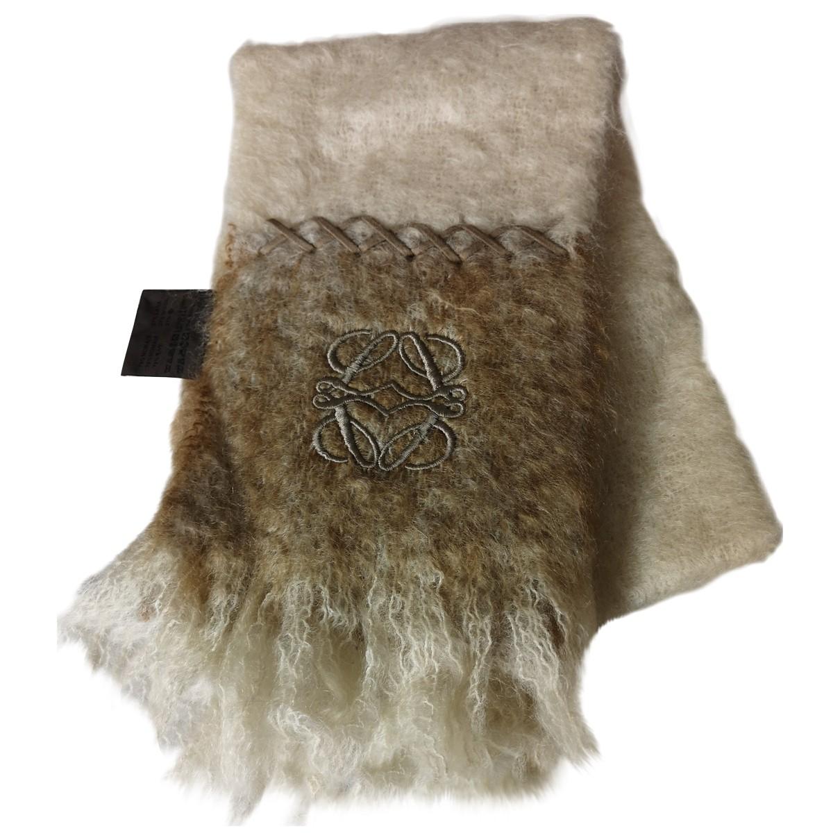 Loewe - Foulard   pour femme en laine - ecru